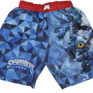 Boys Blue Skylanders Swim Trunks Shorts Size M 8